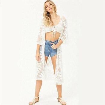2dff0d844d4e Vestidos de playa y túnicas de talla grande ropa de playa largo Casual  vestido suelto Boho Chic ...