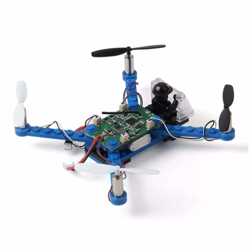 DIY RC X 101 2 4G 4CH 6 axis Gyro Mini DIY Building Block Quadcopter Blue