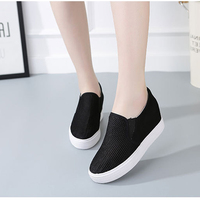 Women Flat Shoes New High Quality Canvas Shoes Women Slip On Shoes Breathable Shoes Increased Height