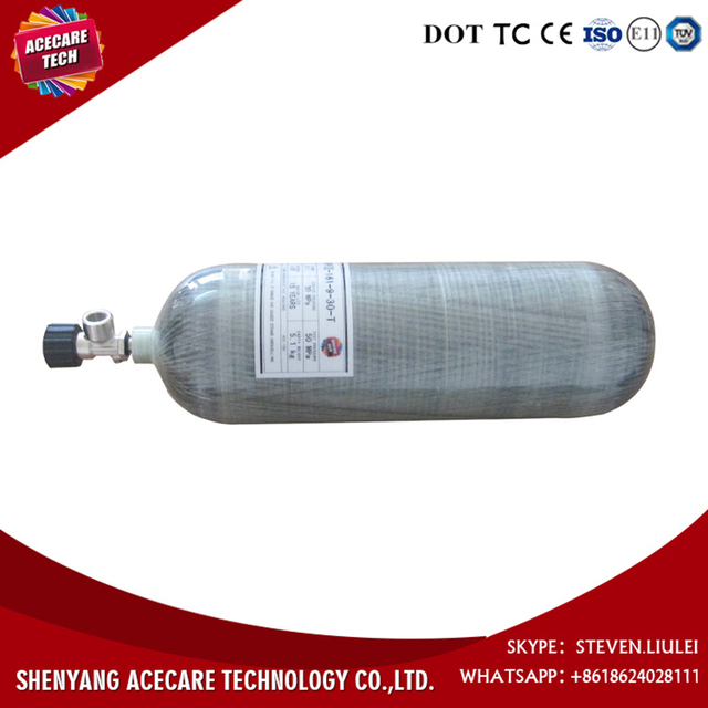 High Quality Material Hot Sell 9L Carbon Fiber Composited Cylinder with Valve on Sale