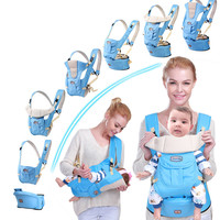 Ergonomic Baby Carrier Infant Baby Hipseat Carrier Ergonomic Kangaroo Baby Wrap for Baby Travel 0 36M Toddler Lillebaby Carrier