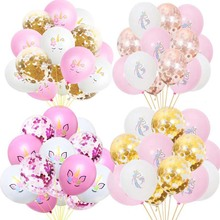 Shiny Unicorn Balloon White And Pink Latex Baloon my little Pony Party Birthday Decorations Kids Balloons Favors