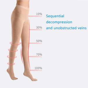 Image 2 - Yienws Medical Compression Stocking Women 25 30 mmHg Varicose Veins Open Toe Stockings Thigh High Compression Pantyhose YiG039