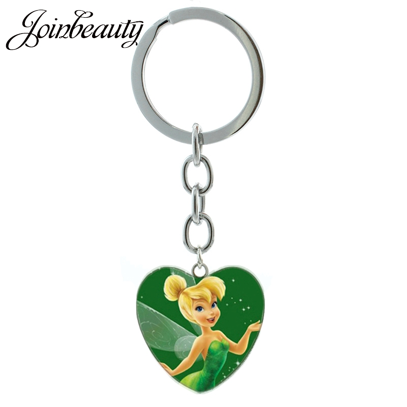 JOINBEAUTY Cute Fairy Keychain Cartoon Movie Case For Tinker Bell Keychain Ring Women Girls Dream Wonderland Jewelry gifts HP267 image