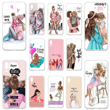 Uppbo Phone Cases Black Brown Hair Baby Mom Girl Queen Soft TPU Case For UMI Umidigi One UMI Umidigi One Pro 5.99 inch Cover phone case for umi umidigi one covers tpu painted silicone soft fundas for umi umidigi one pro 5 99 inch cover bumper