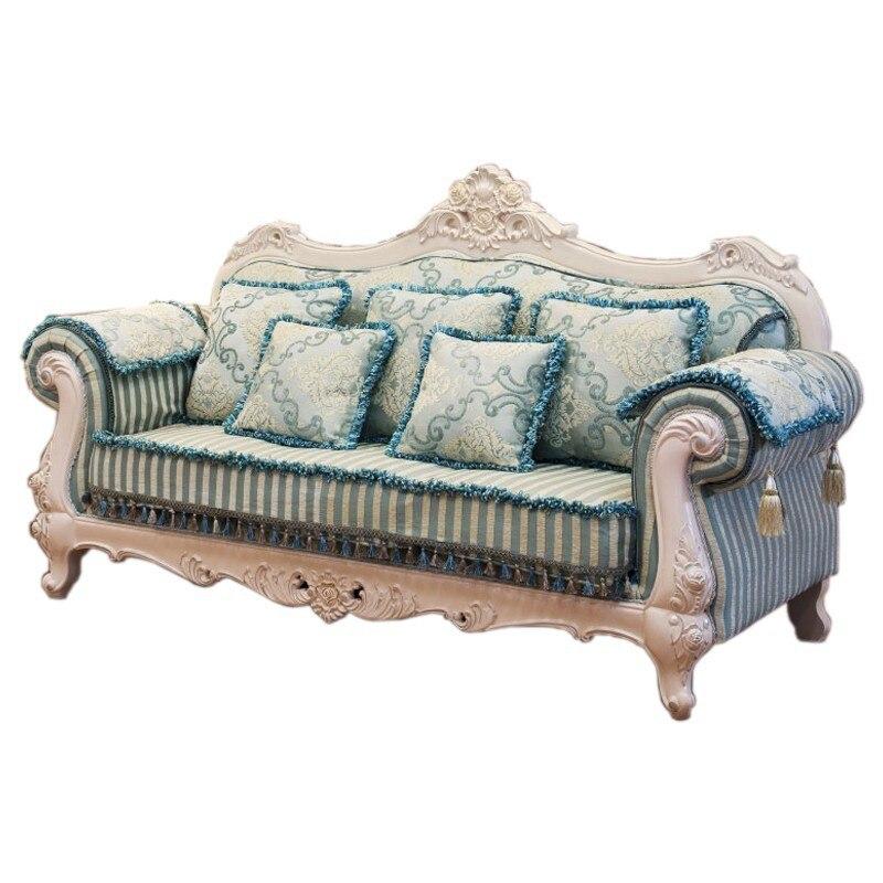 astonishing comfortable living room furniture | Comfortable European Style luxury fabric solid wood curve ...