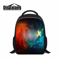 Dispalang Latest 12 Inch Elementary Student Bookbag Cosmos Girls Ultralight Backpack Starry Night Kindergarden Bag For