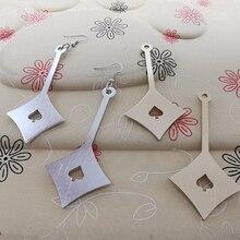 Korean Style Geometric Drop Earrings Long Black Rectangle Dangle Earrings for Women Party Jewelry Gift Festival Party Wedding цена и фото