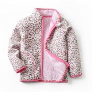 Image 3 - Autumn Winter Girls Jackets Fashion Lining Thick Fleece Warm Jakcet Coat Outerwear Kids Children Clothing Collar Kids Jackets
