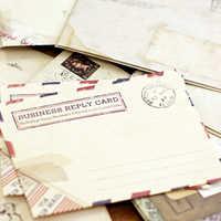 Vintage Grande Busta Cartolina Lettera di Carta Cancelleria Posta Aerea Retro Scuola Ufficio Regali Kraft Buste