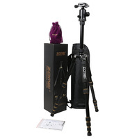 Zomei Z699 Professional Aluminum SLR DSLR Camera Tripod Non slip Rubber Feet Portable Travel Camera Stand Monopod With Ball Head