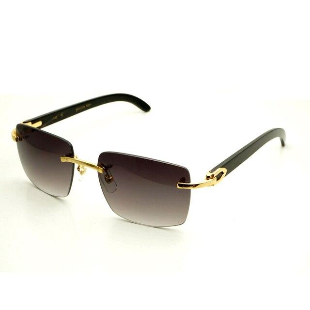 125c0273f مربع العلامة التجارية مصمم النظارات الشمسية الرجال كارتر نظارات النساء بدون  شفة الجاموس القرن نظارات رجل