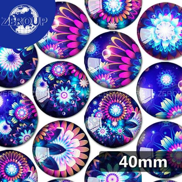 18x25mm Imprimé Verre Cabochons 10pcs Mélange des Fleurs Design