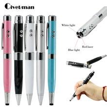 7 farben Licht Laser Stift Form USB-Stick 8GB 16GB 32GB 64GB 128GB 256GB Usb Disk USB 2,0 Pen Drive Memory Stick