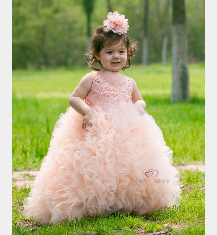 Ball Gown Flower Girls Dresses For Wedding Gowns Ankle-Length Mother Daughter Dresses Free Shipping Holy Communion Dresses free shiping flower girls dresses for wedding gown ankle length kids evening gowns tulle mother daughter dresses with sashes