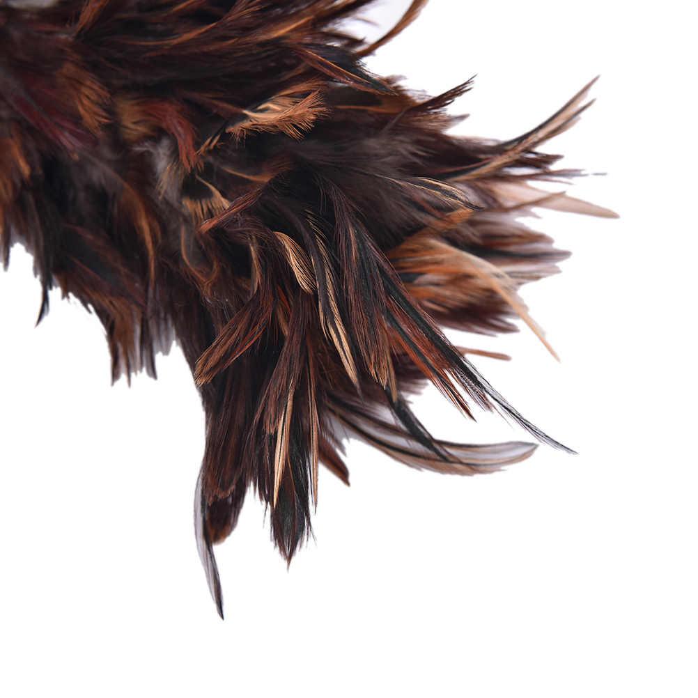 1 pc 45 CM poignée crochetée en plastique 45 cm Anti-statique plume fourrure brosse Duster poussière outil de nettoyage