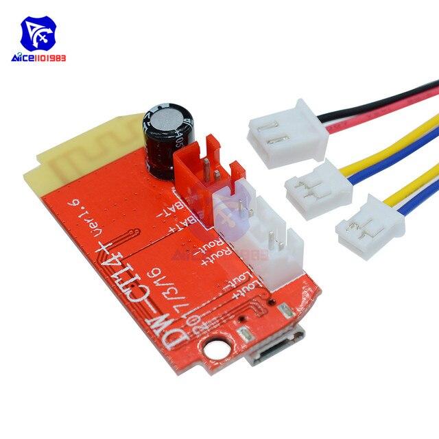 Diymore DC 3.7V 5V 3W dźwięk cyfrowy płyta wzmacniacza podwójna płyta głośnik Bluetooth modyfikacja dźwięk moduł muzyczny Micro USB