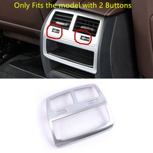 Inner Accessories Armrest Box Rear Air Outlet Vent Decorative Trim ABS Matte For BMW 5 Series G30 2017 2018