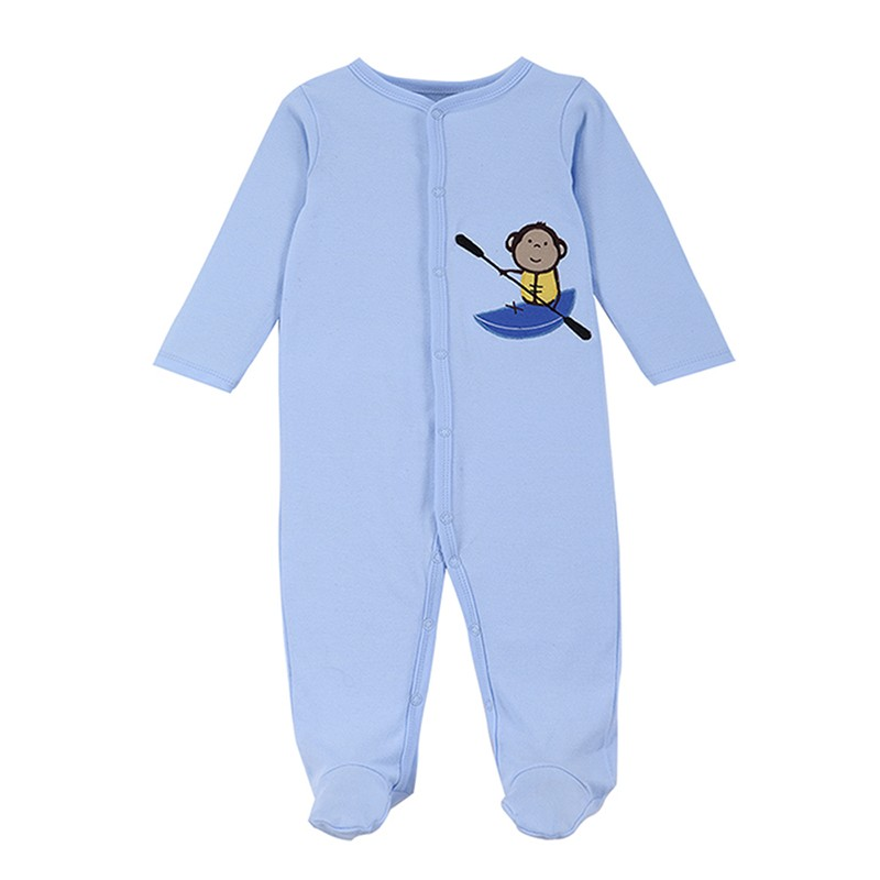 2016 New Style Baby Clothing Cotton Long Sleeve Baby Footies Spring Autumn Infant Jumpsuit Round Collar Baby Sleepers Unisex