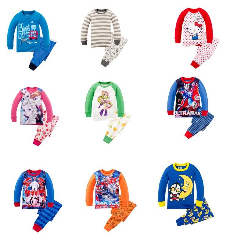 Pajamas-Sets Sleepwear Nightgowns Infantil Baby-Girls Cotton Summer Menina Roupas