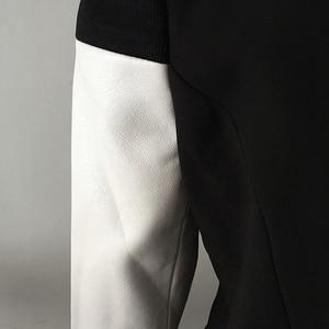Image 5 - جاكيت بلازر عصري أنيق 2020 من هاي ستريت جاكيت نسائي من الجلد بأكمام مزركشة بأزرار أسد
