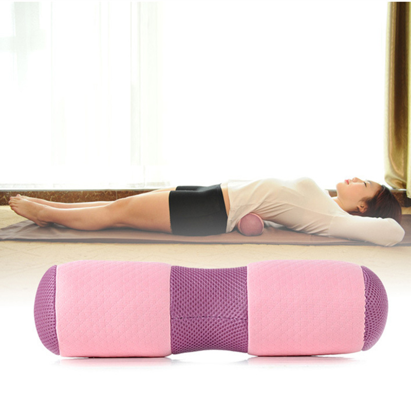 Mutifuntion Yoga Waist Neck Back Pillow Rebound Breathable Cloth Memory Foam Pillow Cerv ...