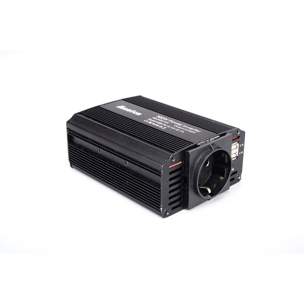 Image 4 - 300W Power Inverter 12V to 220V Car Inverter Cigarette Lighter Socket and 2 Clips 12v 220v Inverter with Dual USB Ports-in Car Inverters from Automobiles & Motorcycles