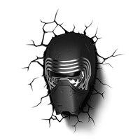 Star Wars Sith Lead Villain Mask Modeling 3D Wall Lamp LED Night Light For Bedroom Decor