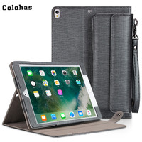 Smart Case Cover for iPad Pro 10.5 inch PU Leather Stand Protector Shell with External Pouch for Cable Phone Card Earphone