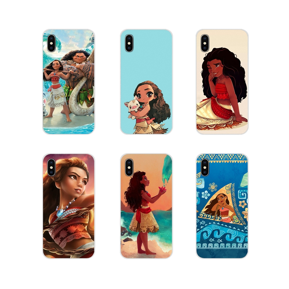 Moana Cartoon Accessories Phone Cases Covers For Apple iPhone X XR XS MAX 4 4S 5 5S 5C SE 6 6S 7 8 Plus ipod touch 5 6