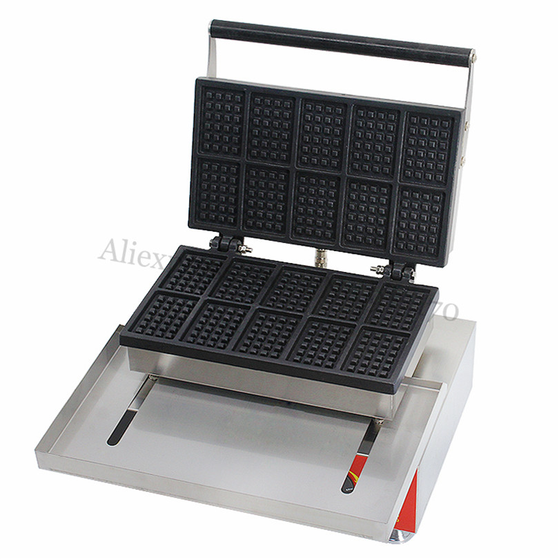 Small Rectangle Waffle Machine Electric Danco Waffle Baker Maker Non-stick Cooking Surface Dinning Room Snack Bar Fast Food economic and elegance waffle maker machine baker doulbe head electric churros with bar shaped and popsicle