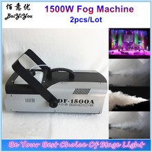 2pc/Lot Hot 1500W Fog Smoke Machine DMX Remote Controlled 1500W Fogger Maker Stage Effect Equipment(China)