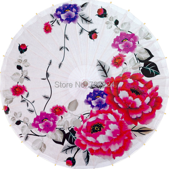 Free shipping chinese handmade oiled paper umbrella peony pattern waterproof parasol decoration decoration props dance umbrella dia 84cm camellia with double butterfly parasol classic chinese handmade umbrella dance decoration gift oiled paper umbrella