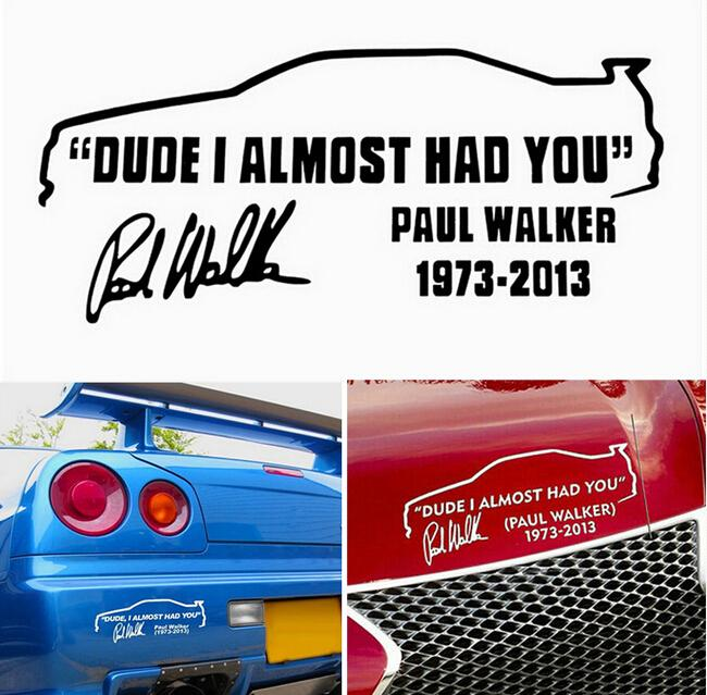 Funny novelty vinyl decals stickers car stickers dude i almost had you car window jdm 21090mmlxw in car stickers from automobiles motorcycles on