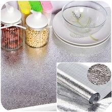 Кухня водонепроницаемый анти-масло алюминиевая фольга самоклеющиеся наклейки коврики анти-масло серебряные обои для ящика ванной комнаты