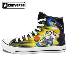 Anime Shoes Man Woman Kuroko's Basketball Converse All Star Design Custom Hand Painted High Top Canvas Sneakers Men Women