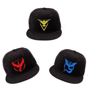 Cosplay Mobile game Pokemon Go Team Valor Team Mystic Team Instinct snapback  baseball Cap hat d2d07548055e