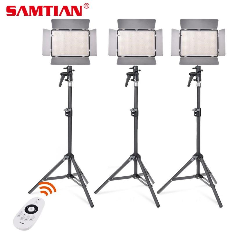 SAMTIAN Adjustable TL-600A LED Video Light Kit Bi-Color Photography Lighting with NP-F750 Battery For Photo Video Studio Light