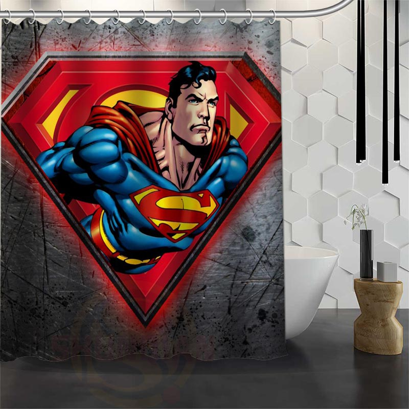 awesome superman shower curtain 60 x 72