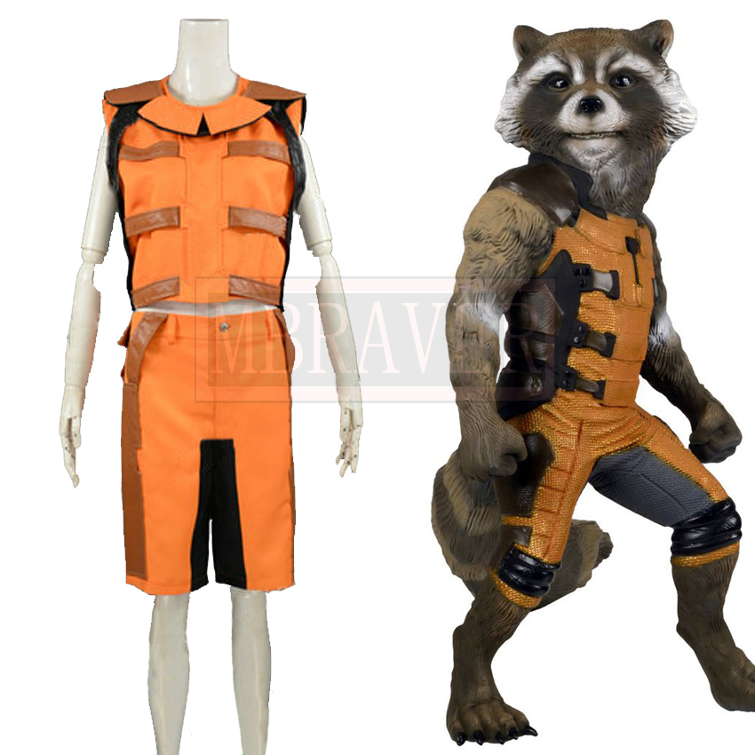 Guardians of the Galaxy Rocket Raccoon Cosplay Costume Mens Move Costume