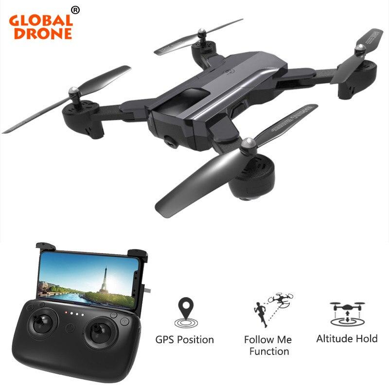 Mondiale Drone GPS Quadrocopter avec Caméra Full HD Pliable RC Dron Me Suivre Retour Automatique Profissional FPV Drones VS VISUO XS812
