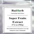 Super Fruits Extract Powder Mixed with Strawberry/Kiwi Flavor Acai, Gogi, Mangosteen, Noni & Pomegranate 17.6 oz (500g)