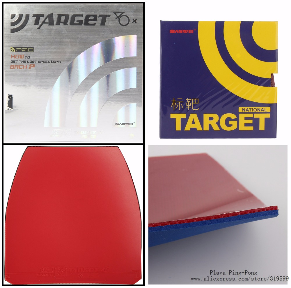 NEW ARRIVAL SANWEI National Target German Sponge Table Tennis rubber,Table Tennis cover / Pingpong rubber ...
