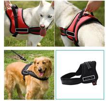Adjustabl Nylon Dog Harness No Pull Dogs Harness Quick Control Service Pets Vest For Training Small Medium Large Work  Pitbull цена