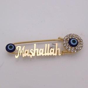 Image 1 - Islam Maşallah Paslanmaz çelik broş türk nazar İslam müslüman bebek pin damla nakliye kabul