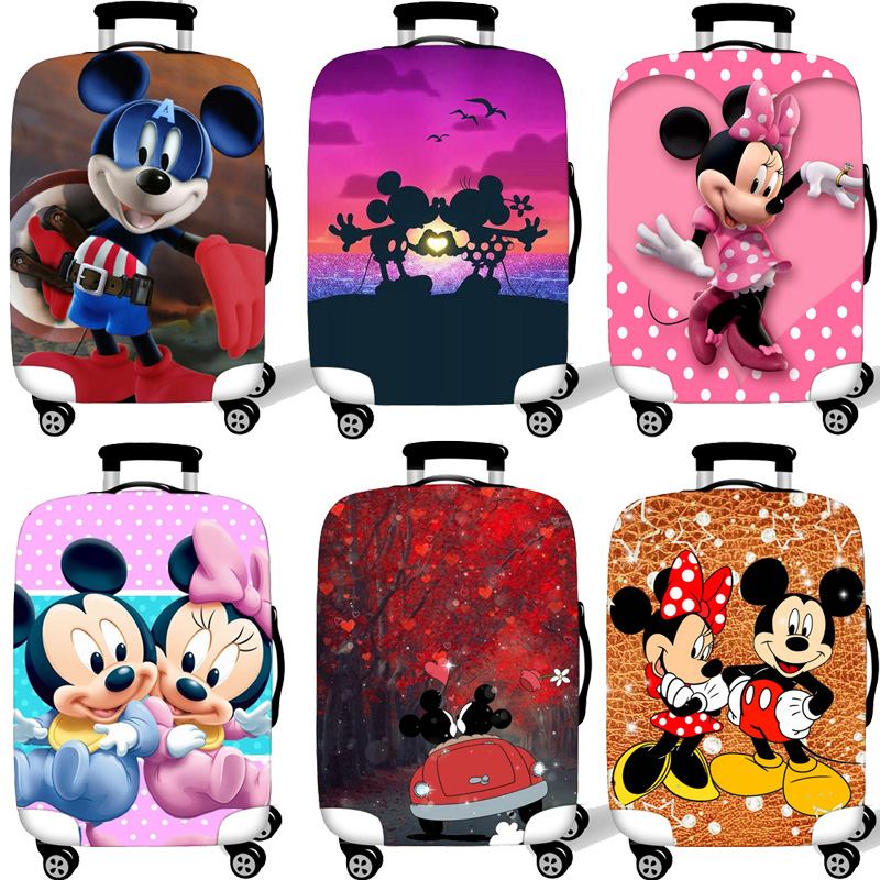3D Mickey Minnie Elastic Luggage Protective Cover Case For Suitcase Protective Cover Trolley Cases Covers  Travel Accessories 98