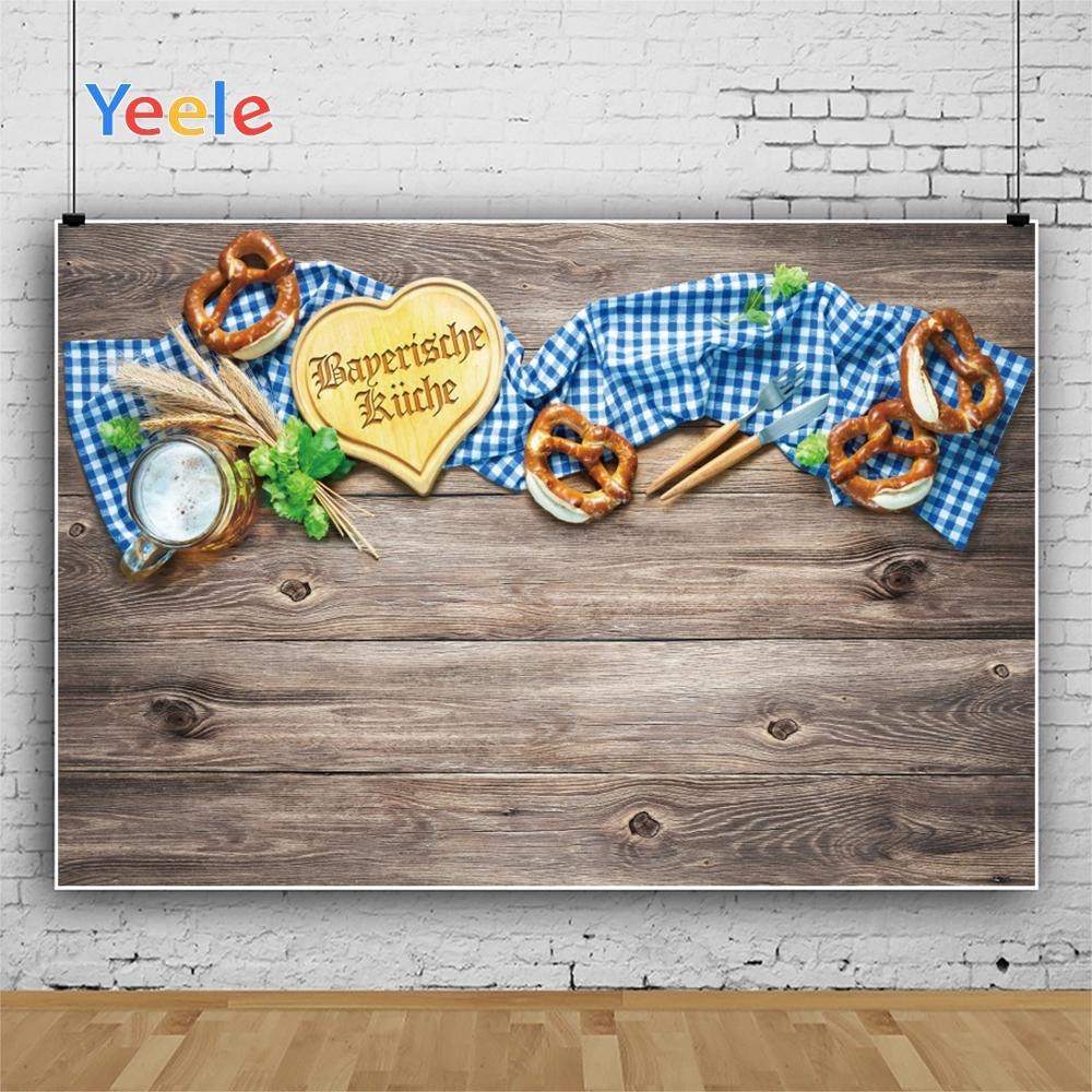 Yeele Oktoberfest Carnival Beer knife fork Wheat Photography Backdrops Personalized Photographic Backgrounds For Photo Studio in Background from Consumer Electronics