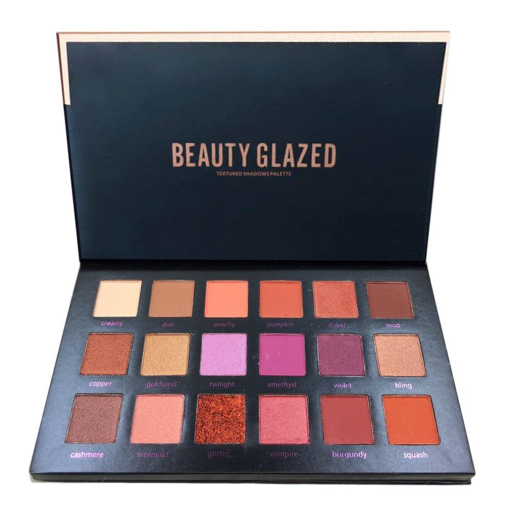 Beauty Glazed 18 Color Eyeshadow Palette Glamorous Smokey Eye Shadow Shimmer Makeup Kit Makeup Palette Shimme Professional Long