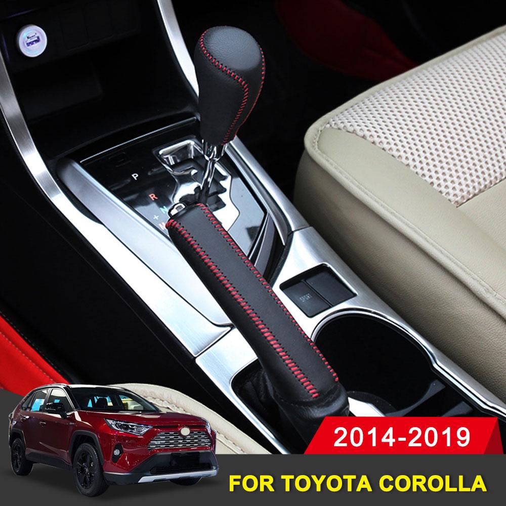 Handbrake-Protective-Sleeve Corolla Toyota Shift-Sleeve Interior-Accessory Hand-Stitched-Gear