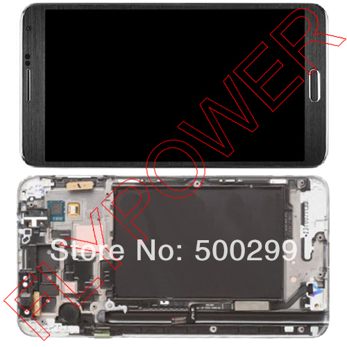 For Samsung Galaxy Note 3 N9000 N9002 N9006 N9008 N9009 LCD and touch screen + Frame Assembly by free shipping